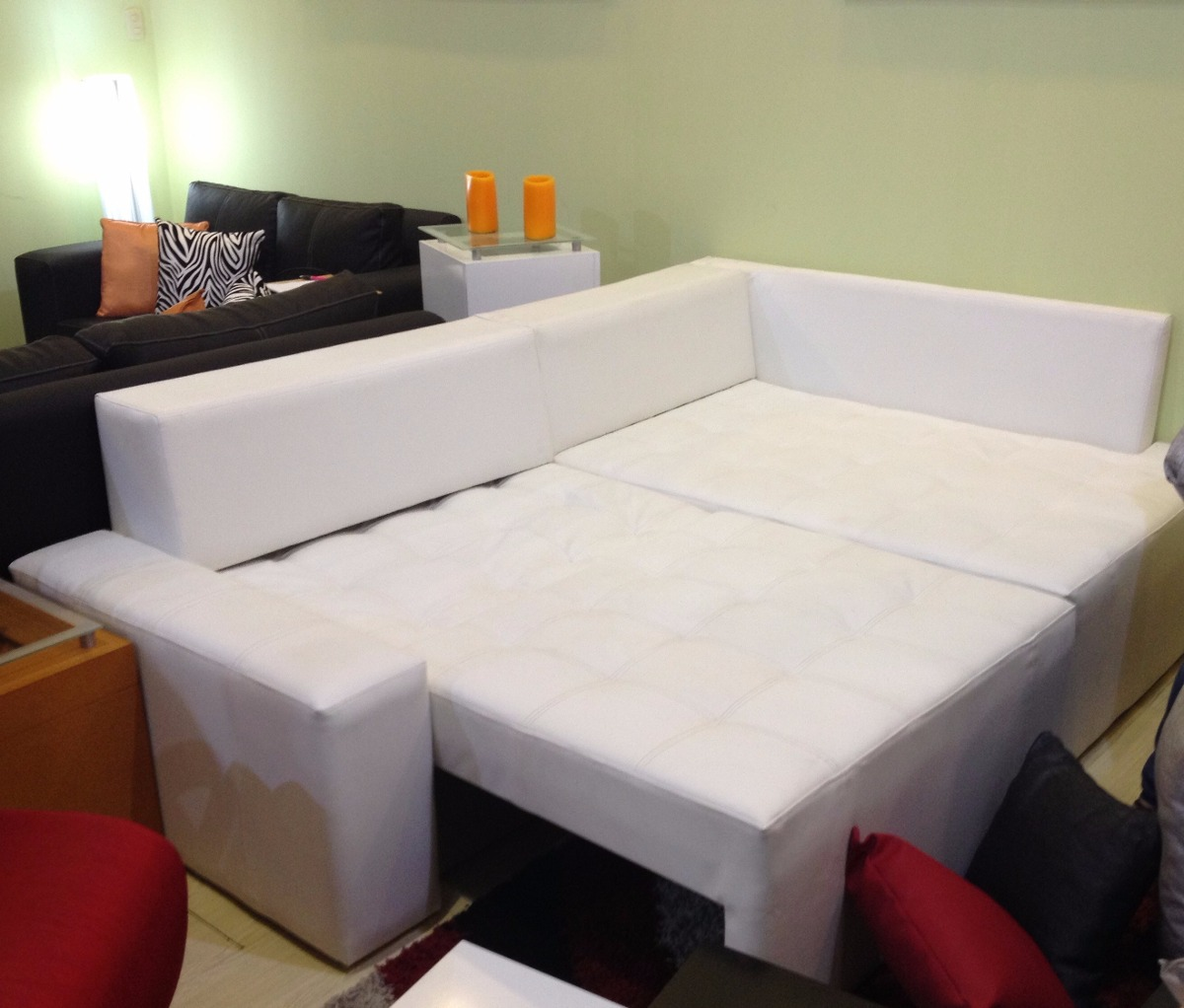 sala semicuero mueble sofa