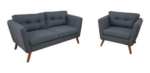 sala sillón y love seat moderno para espacios pequeños