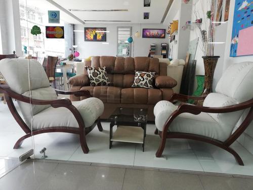 sala sofa milan de 2 puestos 2 sillas sapito