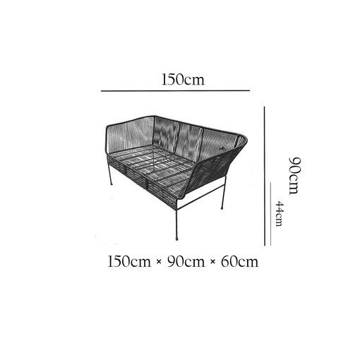 sala tulum ikal sillas acapulco acero pvc 3 piezas colores