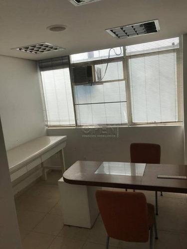 sala à venda, 104 m² por r$ 650.000,00 - centro - santo andré/sp - sa0325