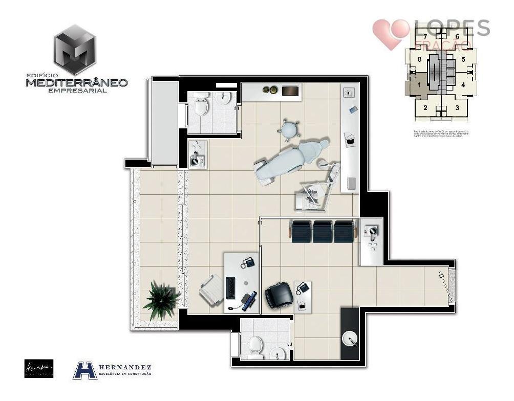 sala à venda, 41 m² por r$ 546.000,00 - tatuapé - são paulo/sp - sa0053