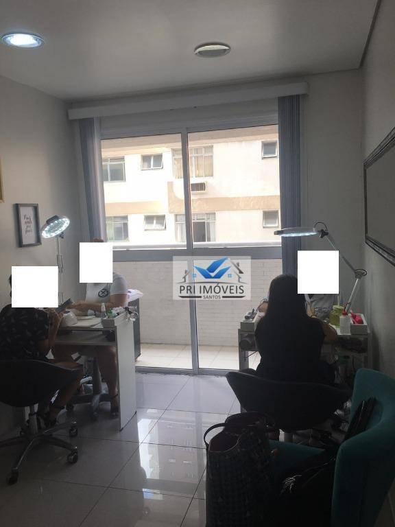 sala à venda, 44 m² por r$ 270.000,00 - boqueirão - santos/sp - sa0036