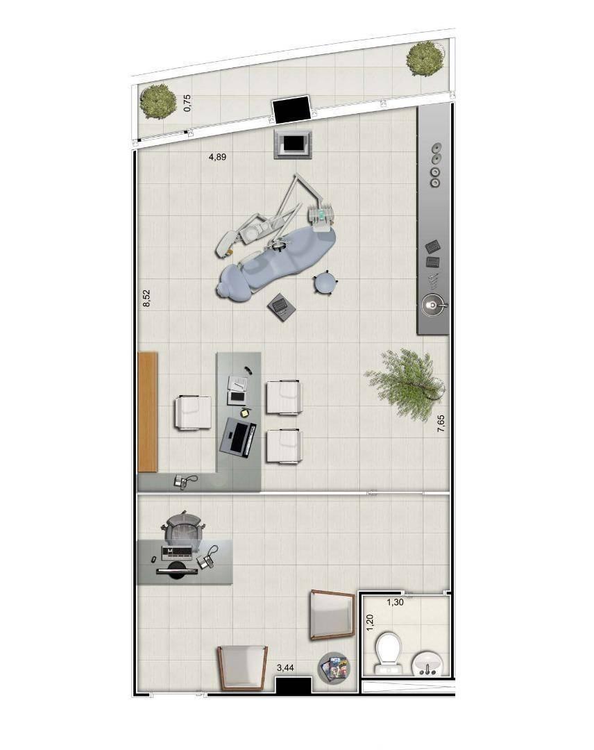 sala à venda, 52 m² por r$ 263.600,00 - jardim aquarius - são josé dos campos/sp - sa0546