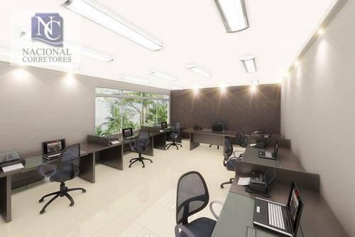 sala à venda, 55 m² por r$ 304.000 - vila dora - santo andré/sp - sa0198