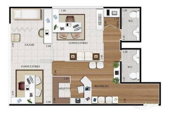 sala à venda, 63 m² por r$ 402.000,00 - empresarial 18 do forte - barueri/sp - sa0072