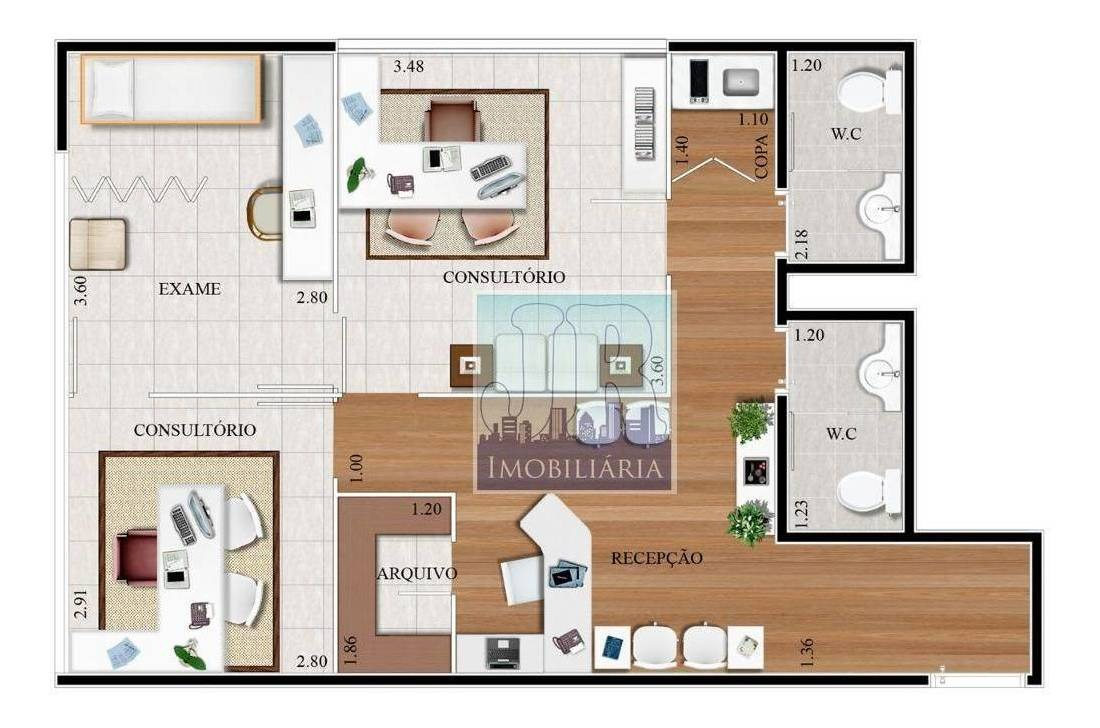 sala à venda, 63 m² por r$ 409.500,00 - alphaville empresarial - barueri/sp - sa0044