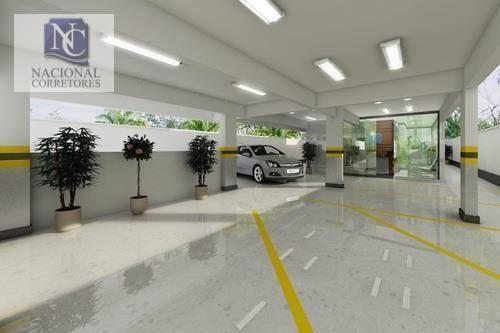 sala à venda, 89 m² por r$ 485.500 - vila dora - santo andré/sp - sa0195