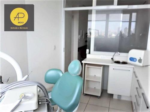 sala à venda, mobiliada e equipada para consultório odontológico com 29 m² - mogilar - mogi das cruzes/sp - sa0013