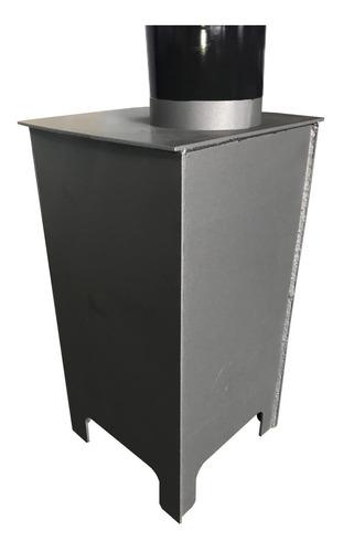 salamandra calefactor lepen model vintage 6000 calorías / cenicero y atizador