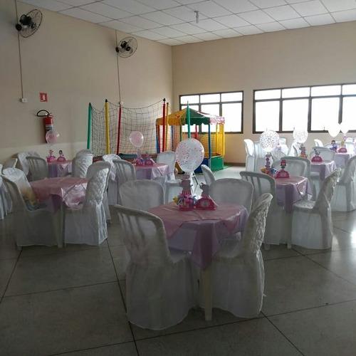 salao de festa, locação de mesas, cadeiras e brinquedos