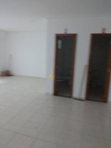 salas comerciais no 2º andar para locação, jardim do mar, são bernardo do campo. - sl0074