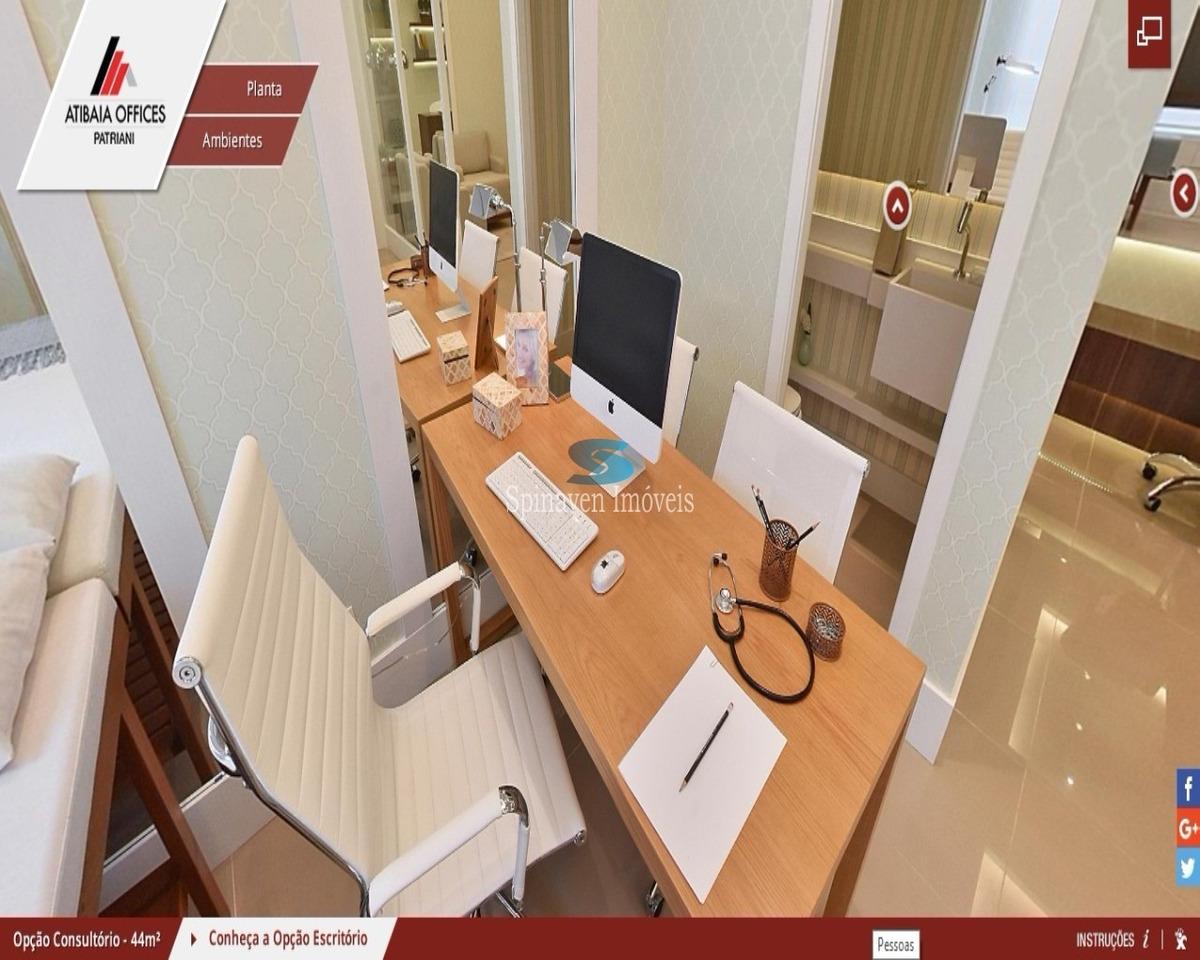 salas comerciais novas para venda - lançamento - atibaia- sp - sa00011 - 32044766