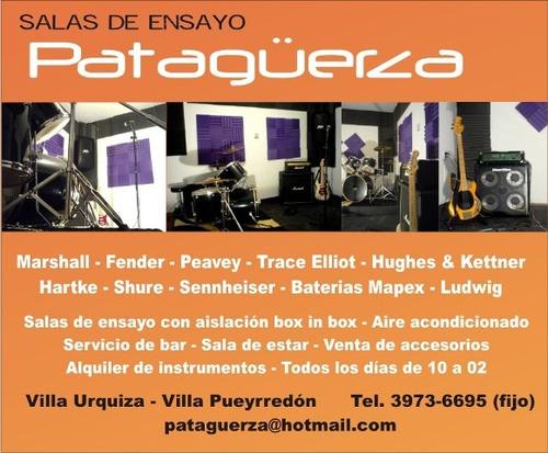 salas de ensayo patagüerza - villa urquiza villa pueyrredon