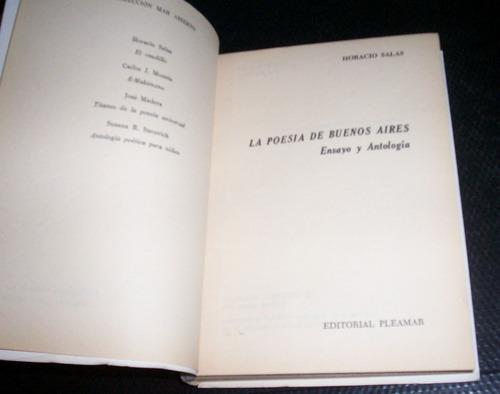 salas horacio: la poesia de buenos aires. ensayo y antología