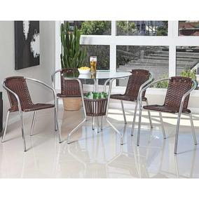 123dfdc5e Cadeiras Em Aluminio E Fibra Sintetica Para Mesa De Jantar - Casa ...