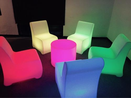 salas lounge con mesa iluminada periqueras iluminadas