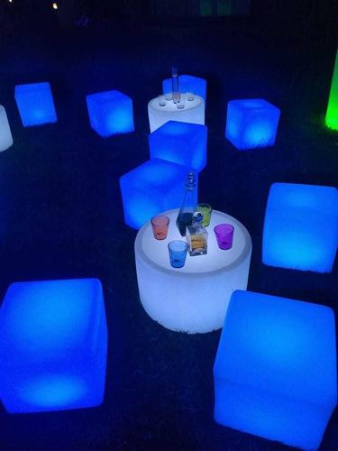 salas lunge puff led eventos decoración