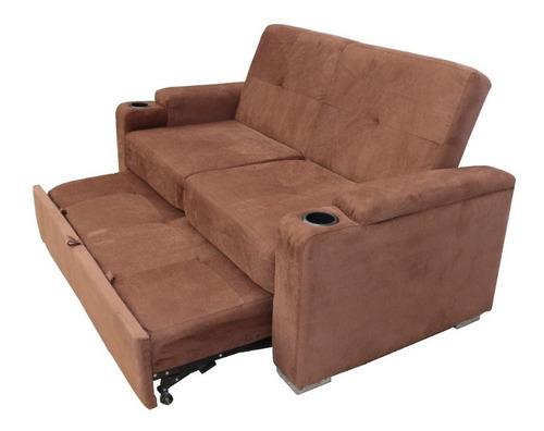 salas sofá cama matrimonial moderno porta vasos