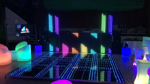 salas y periqueras iluminadas pista led y cristal dj karaoke