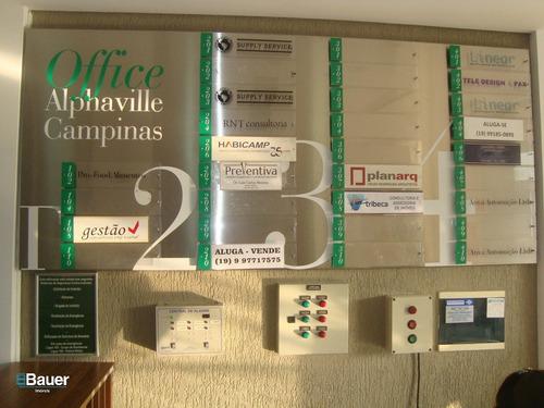 salas/conjuntos - loteamento alphaville campinas - ref: 53495 - l-53495