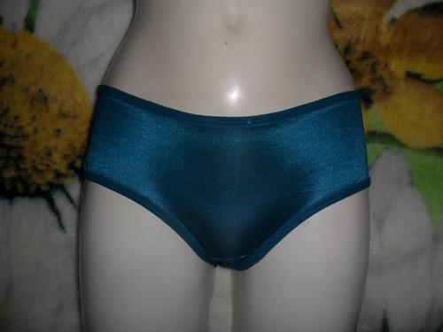 saldos:no ilusion pantaleta,bikini tela satinada aqua osc ch