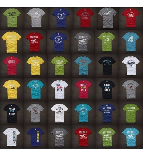 sale! lote 10 remeras abercrombie hollister tommy aero