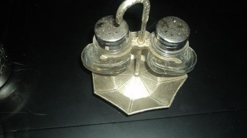 saleiro - pimenteira botinha - antigo