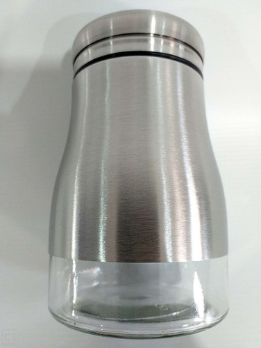 saleiro pimenteiro de vidro revestido em aço inox megagift 2828