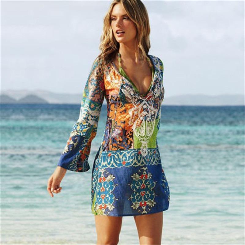 diseño unico comprar real muchos estilos Salida Baño Ropa Playera Verano Piscina Pareo Playa Bikini