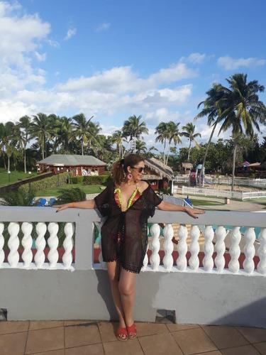 salida de baño blusa falda playa piscina pareo bikini import