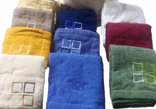 salida de baño de toalla algodon 100% p/ caballero 60x90 cms