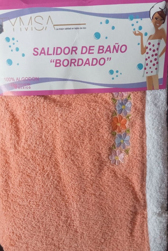 salida de baño de toalla algodon 100% para dama 70 x 90 cms