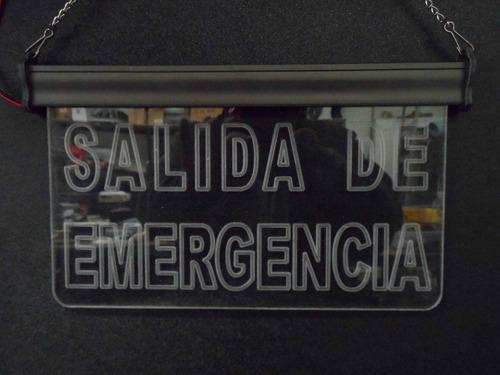salida de emergencia letrero luminoso led  acrílico anuncio