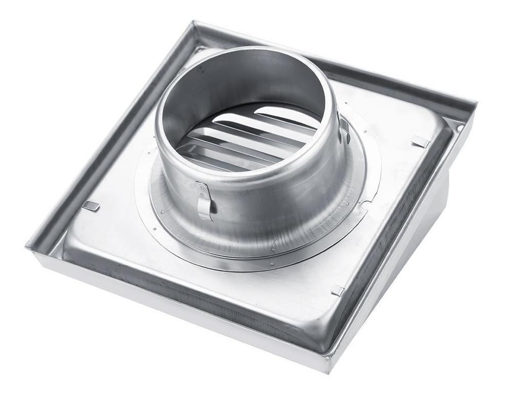 Rejilla para conducto de ventilaci/ón de aire ventilaci/ón de aire de pared de acero inoxidable de 100 mm con p/áginas y redes para insectos salida de ventilador extractor de secadora cuadrada