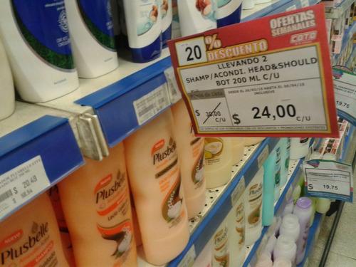 saliente para ofertas / destacar precios / gondolas farmacia