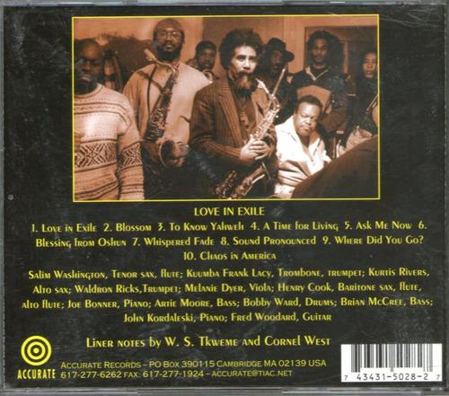 salim washington - love in exile - tenor sax - jazz cd