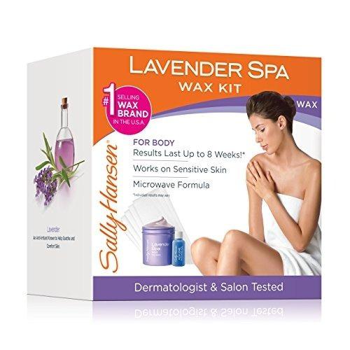 sally hansen lavender spa wax kit de depilación para piernas