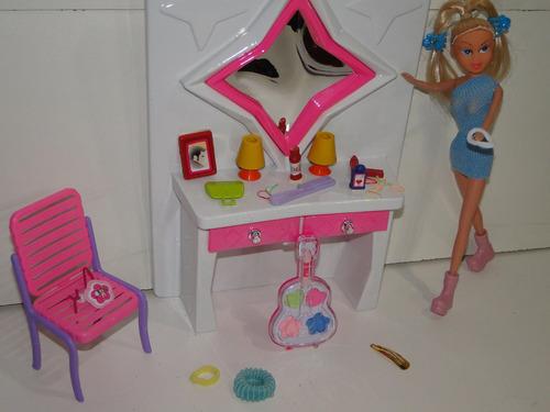salão beleza casa boneca penteadeira maquiagem igual barbie