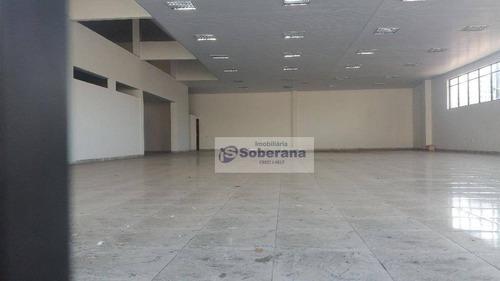 salão comercial para locação, botafogo, campinas. - sl0436