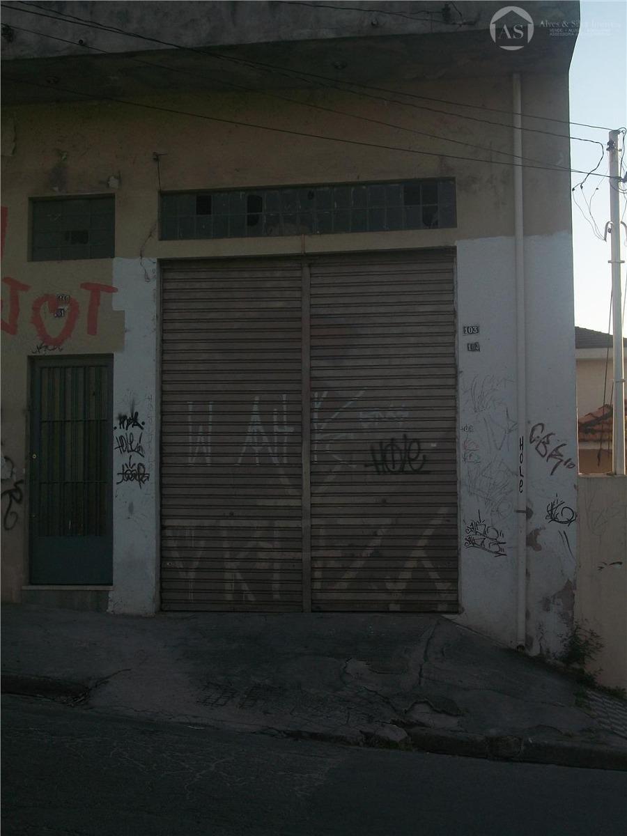 salão comercial para locação, cangaíba, são paulo - sl0033. - sl0033