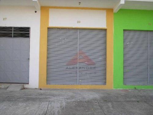salão comercial para locação, conjunto residencial galo branco, são josé dos campos - sl0072. - sl0072