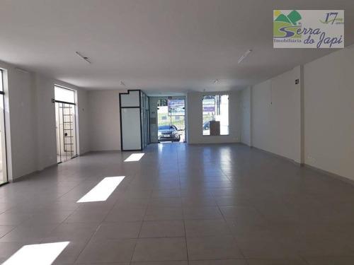 salão comercial para locação, eloy chaves, jundiaí - benedicto castilho de andrade - sl0023