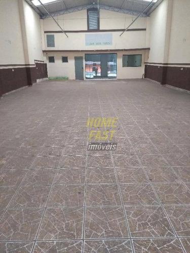 salão comercial para locação em ótimo ponto comercial, centro, guarulhos. - sl0164