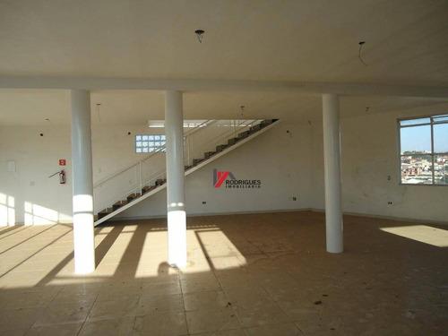 salão comercial para locação, jardim paulista, atibaia. - sl0032