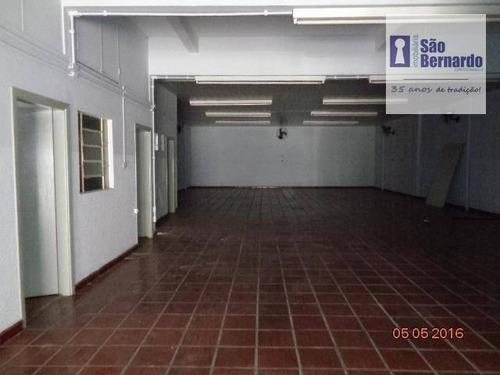 salão comercial para locação, jardim são paulo, americana. - sl0187