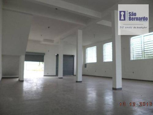 salão comercial para locação, parque das nações, americana. - sl0226
