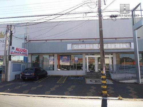 salão comercial para locação, vila frezzarin, americana. - sl0050