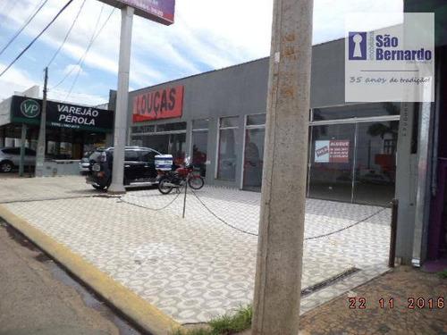 salão comercial para locação, vila molon, americana. - sl0181