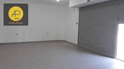 salão comercial para locação, vila nova cintra, mogi das cruzes. - sl0009